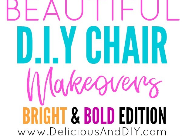 Beautiful DIY Chair Makeovers {Bright and Bold Edition}