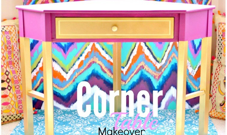 Corner Table Makeover
