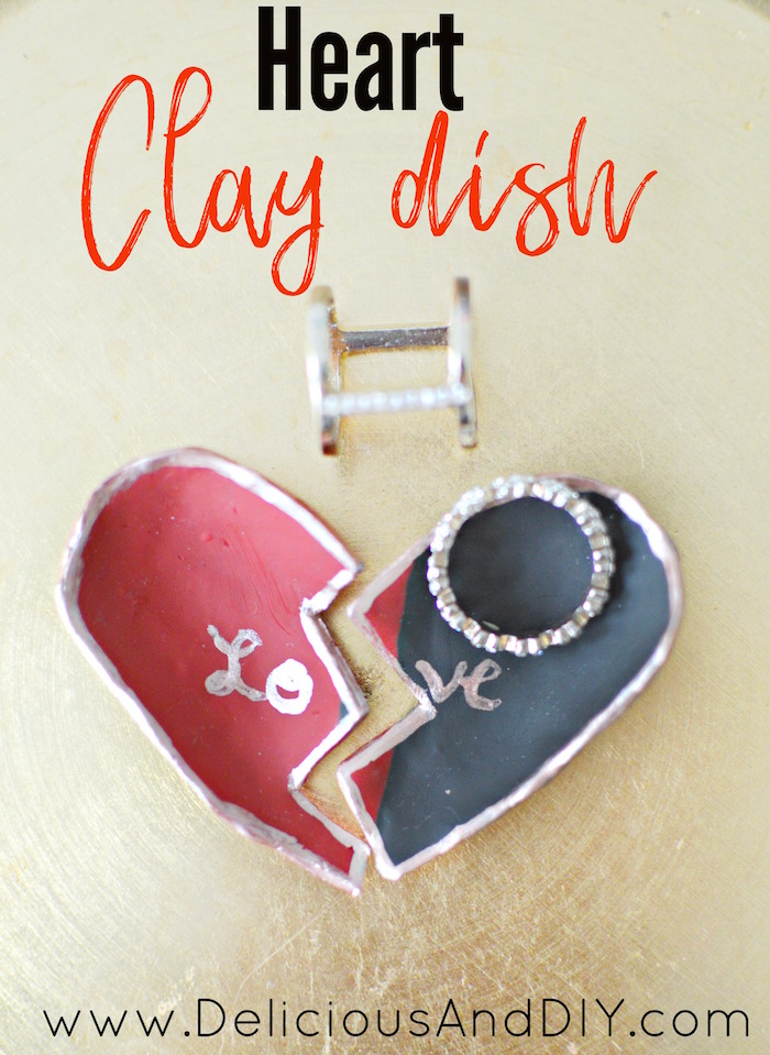 Have a little fun and create this beautiful Heart Clay Dish for your loved one| Valentine Gift Ideas| Clay Projects| Clay Ring Dish| Craft Projects| Heart Clay Dish| Broken Heart Clay Dish| Craft Ideas| Valentine Gift Ideas for Her| Valentine gift guide