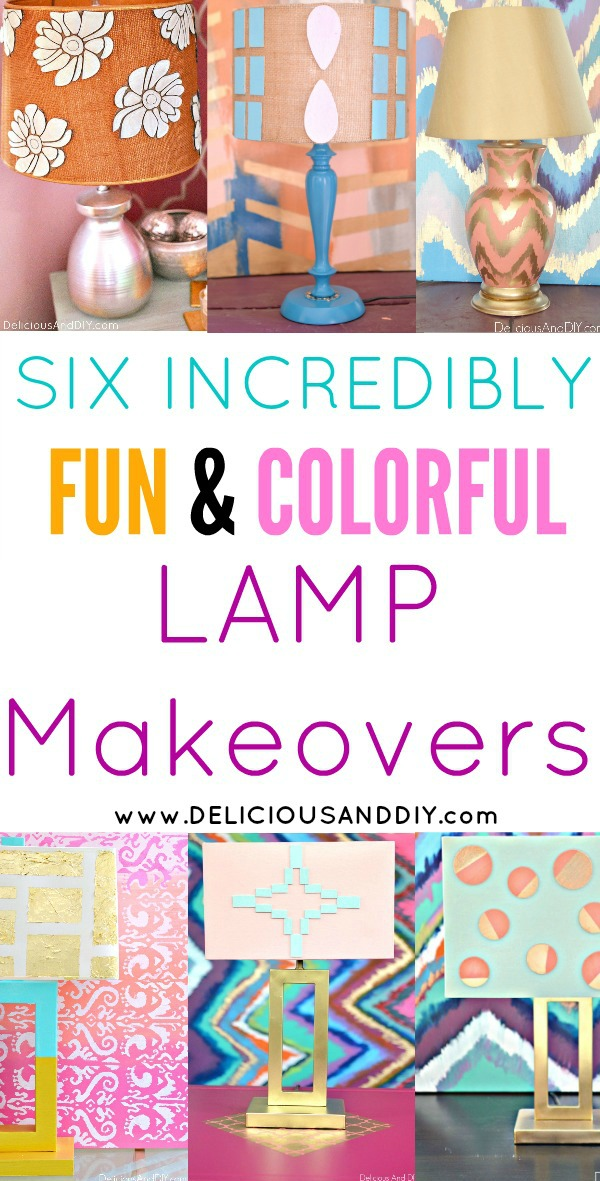 Transform those date lamps into these incredibly fun and colorful lamp makeovers| Painted Lamp Shades| Lampshade makeovers| DIY Crafts| Painted Lighting Ideas| Craft Lamp DIY Projects| Lamp Update Ideas| DIY Crafts| Painted Lamp Decoration Ideas| Lampshade Updates