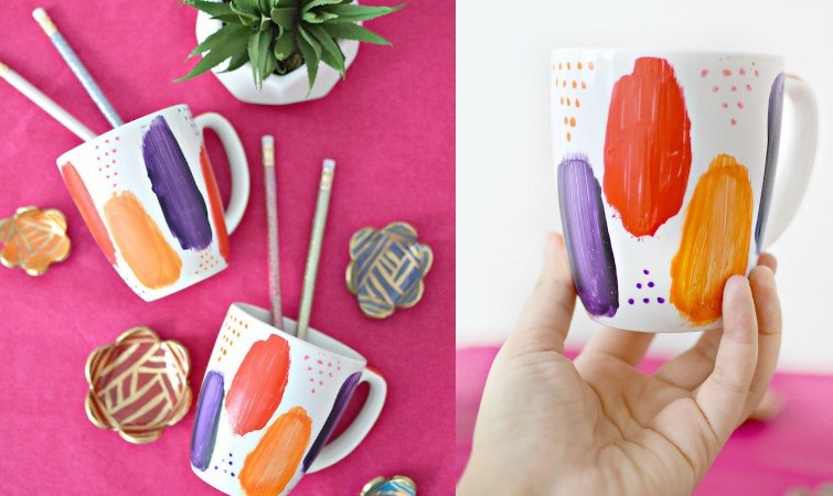 Brushstroke Mug Makeover