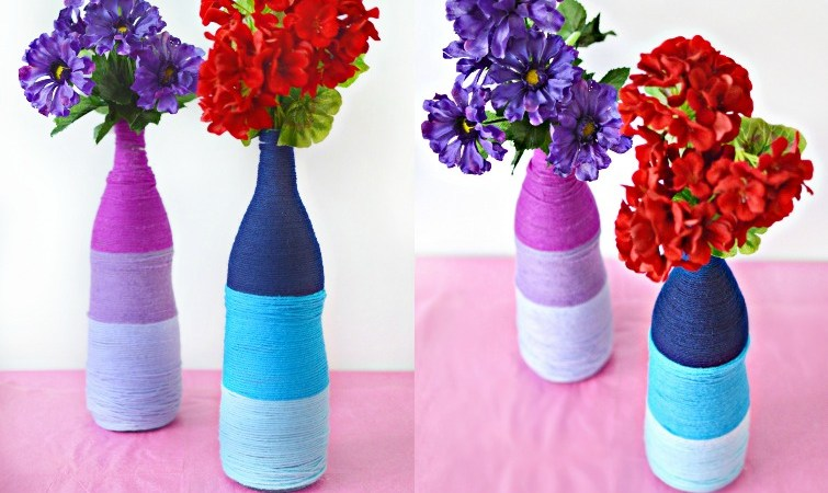 DIY Ombre Yarn Bottles