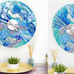 DIY Marbled Wall Clock