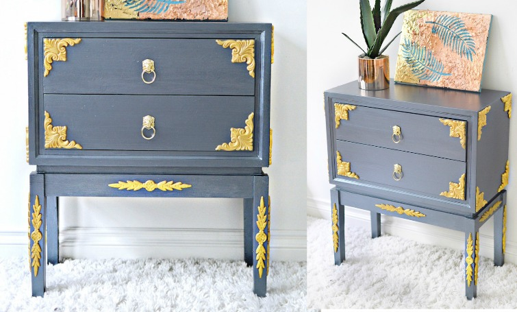 Wood Applique Table Makeover, Wood Appliques For Furniture