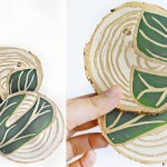 Tropical Leaf Coasters