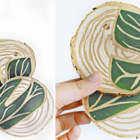 Tropical Leaf Coasters