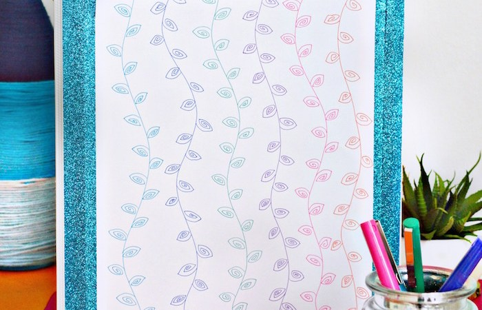 DIY Hand Drawn Binder Makeover