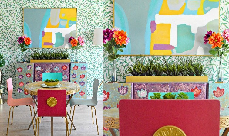 Bright and Bold Dining Room Makeover