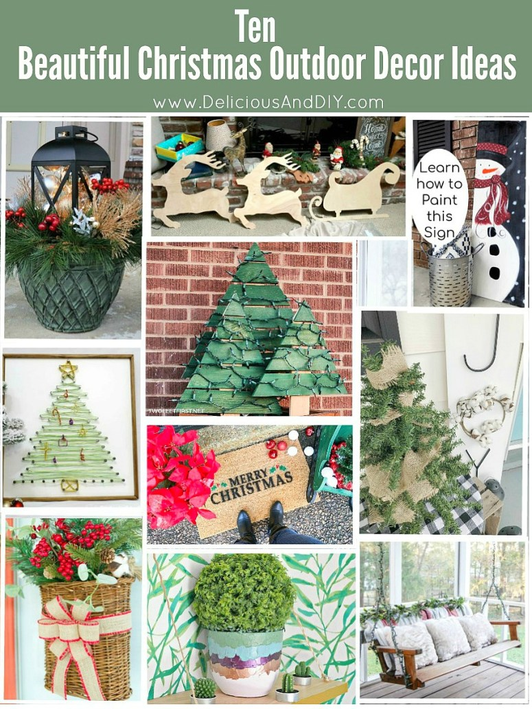 Want to create a gorgeous Outdoor Decor space for Christmas then these 10 Beautiful Christmas Inspired Outdoor Decorations is a great way to start| 10 Beautiful Christmas Outdoor Decor Ideas| Christmas Outdoor Decoration| Christmas Inspired Spaced|