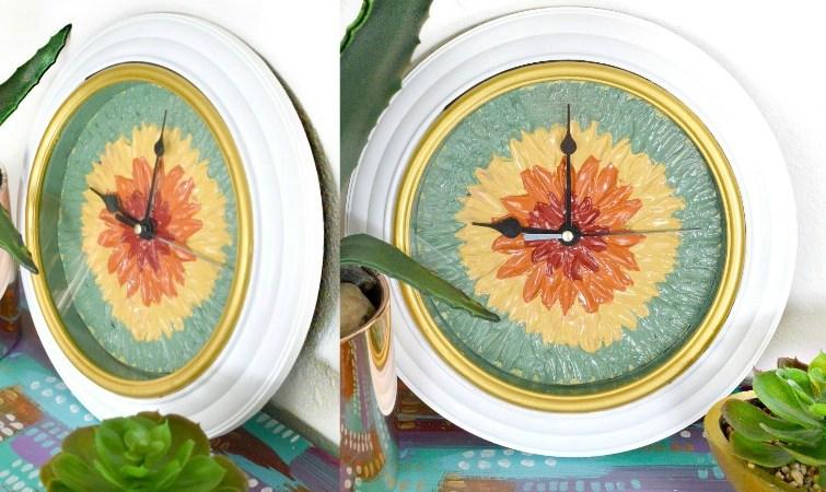 DIY Flower Clock – Dollar Store Edition