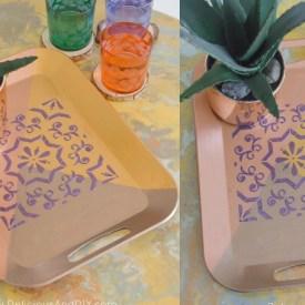 DIY Textured Decorative Tray