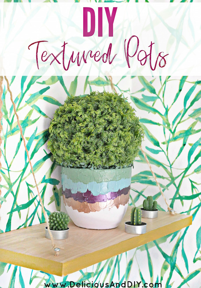 Decorate those Dollar Store Faux Outdoor Pots using gorgeous Textured paints and give it a high end makeover| DIY Textured Paints Pots| DIY painted Outdoor decor pots| Dollar Store Faux Plants Makeover|
