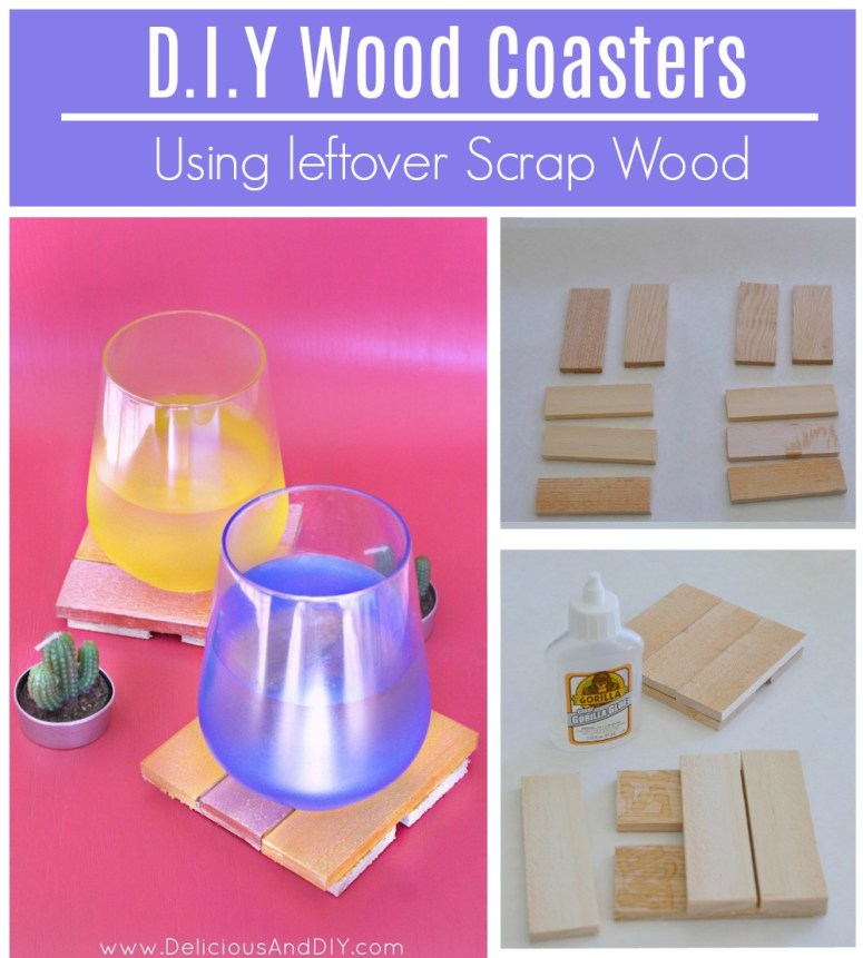 Create gorgeous DIY Wood Coasters just by using leftover scrap wood pieces.