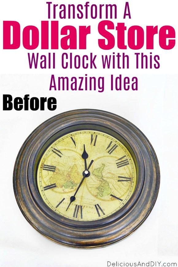 dollar store wall clock