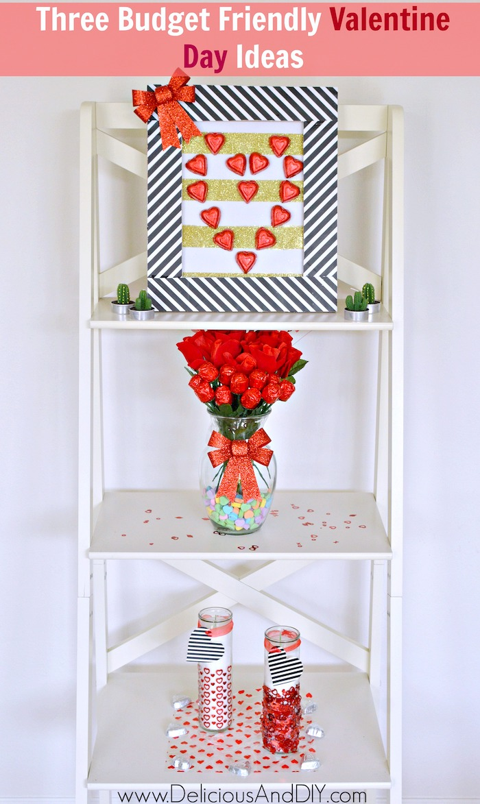Learn how to create Three gorgeous Budget Friendly Valentine Day Projects which is surely going to make anyones day| Budget Friendly Valentine Day Craft Idea| Create beautiful and budget friendly Valentine Day decor items from the 99 cent store only| #dothe99 #99obsessed #ad