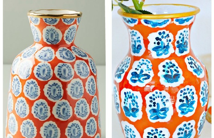 Anthropologie Knock Off Vase Using Dollar Store Vase