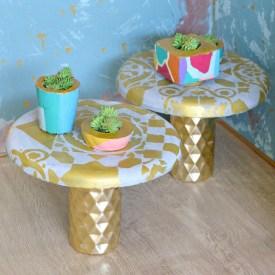 Concrete Table Using a Lamp Base