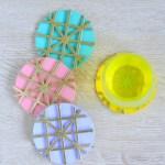 DIY Textured Cork Coasters