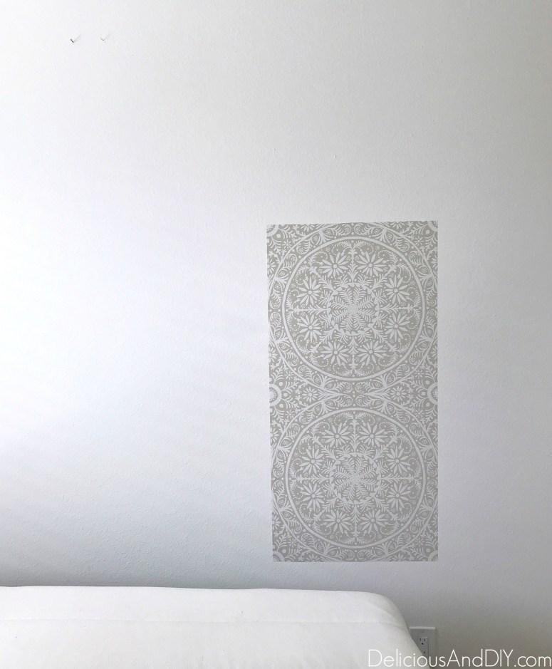 Diy Removable Wallpaper Headboard Delicious And Diy