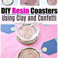 DIY Resin Coasters - Using Clay and Confetti