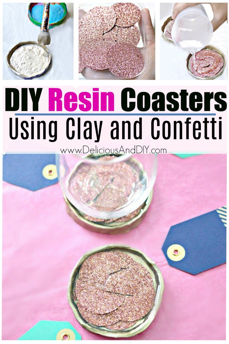 A step by step pictures of how to make your own diy resin coasters