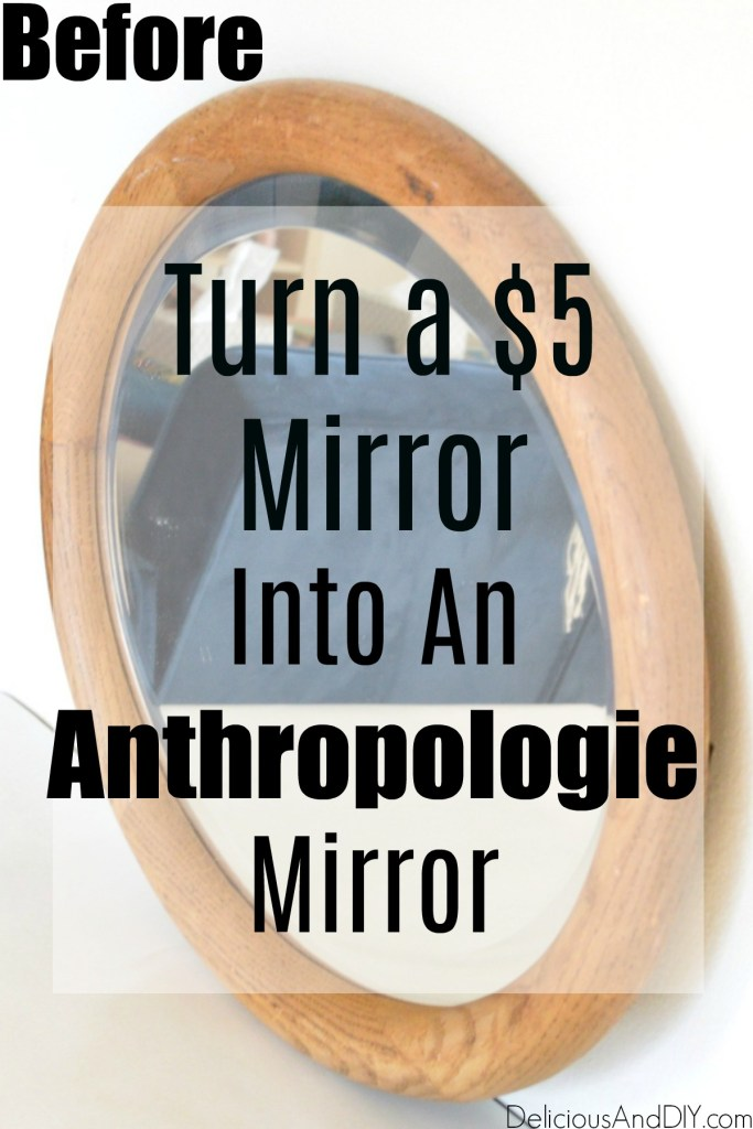 Anthropologie Mirror before it is painted