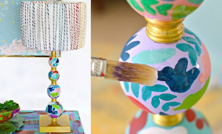 DIY Anthropologie Inspired Lamp Makeover