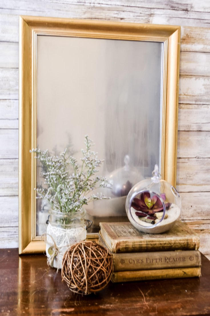 DIY Frosted Mirror