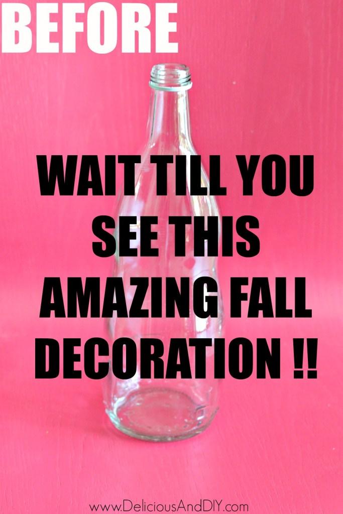 thrifted glass bottle