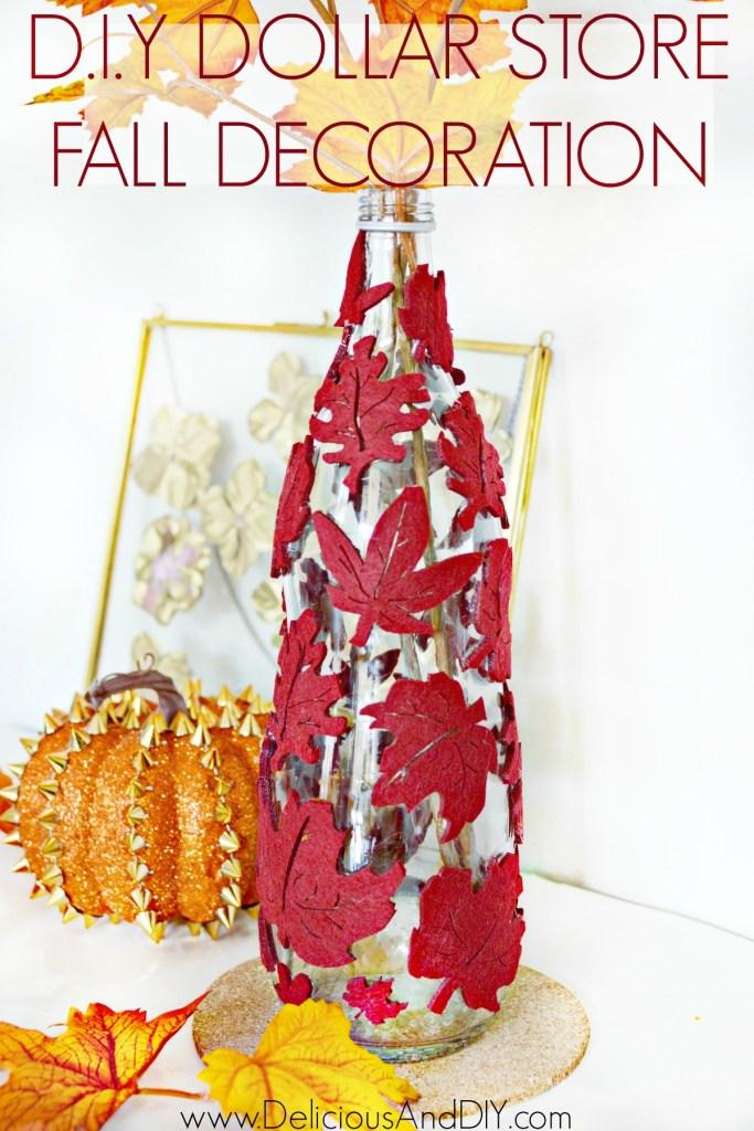 fall leaf decorative vase