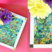 How To Make DIY Epoxy Resin Wood Serving Tray Using Yarn