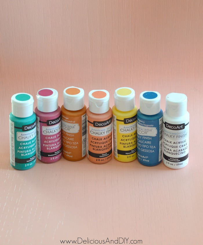colorful chalky finish paint