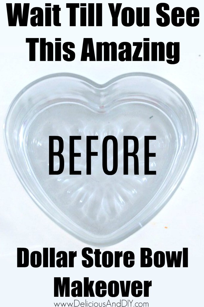 heart shaped dollar store bowl