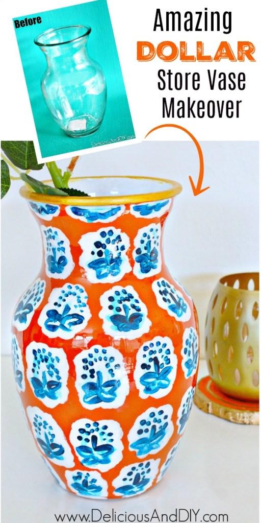 dollar store vase makeover