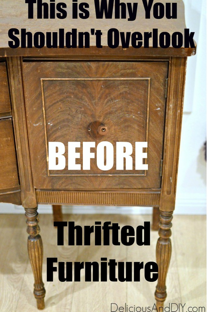thrifted vintage table