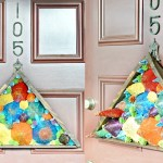 DIY Door Decor Using Paper Cones