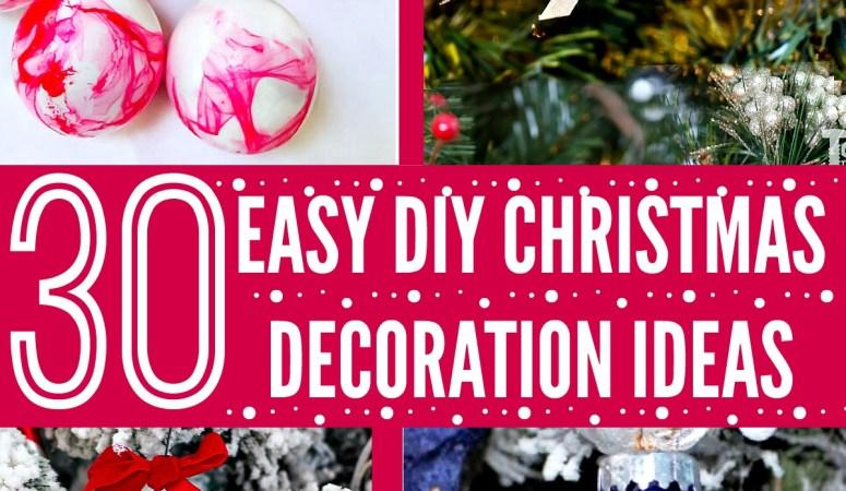 30 Gorgeous DIY Christmas Decoration Ideas