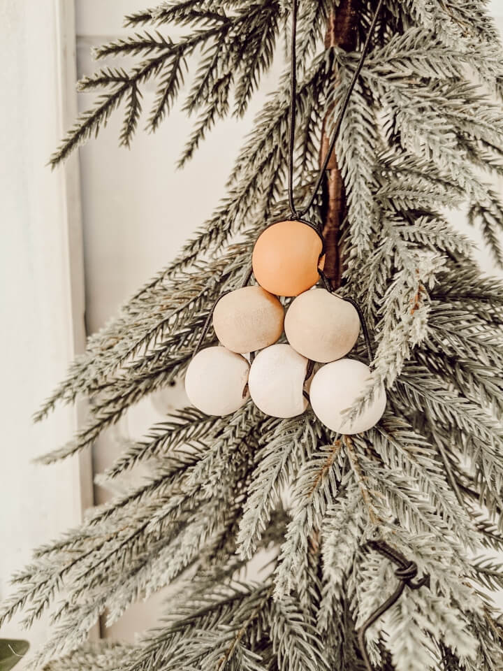 DIY wooden bead tree ornaments