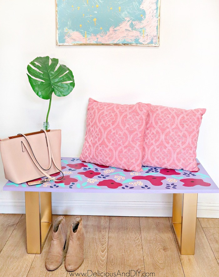 anthropologie Inspired painted bench