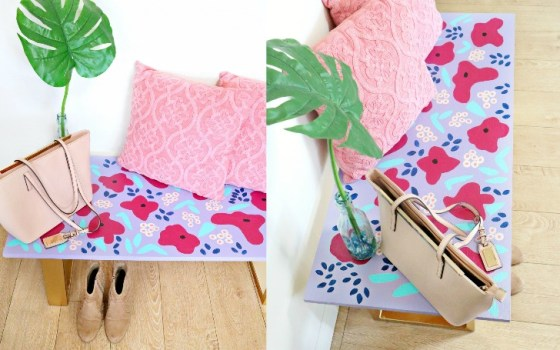 painted anthropologie bench