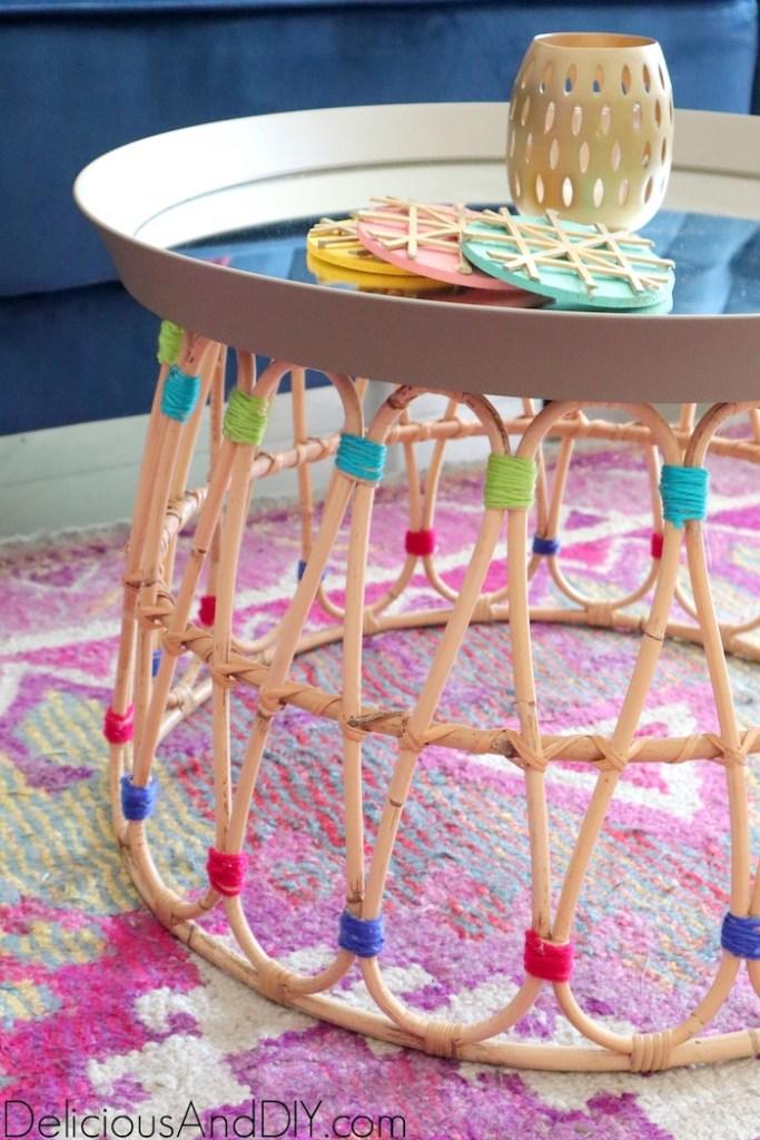 stunning yarn boho chic coffee table