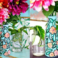 How To Paint a Dollar Store Vase for Spring