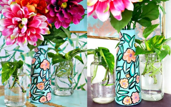 painted dollar store vase