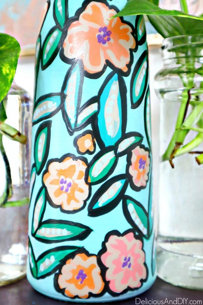spring dollar store vase