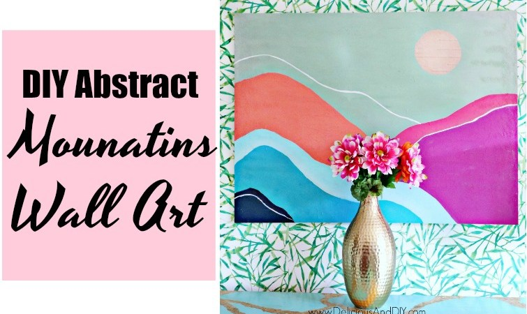 How To Paint – DIY Abstract Mountains Wall Art