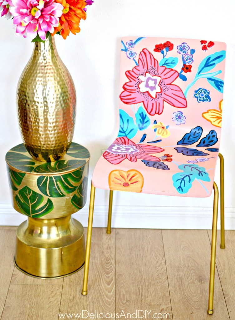 anthropologie inspired painted chairs