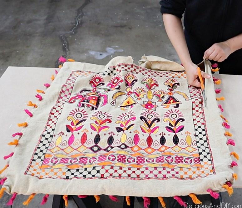 boho chic fabric to be used onto the Ikea Ivar headboard