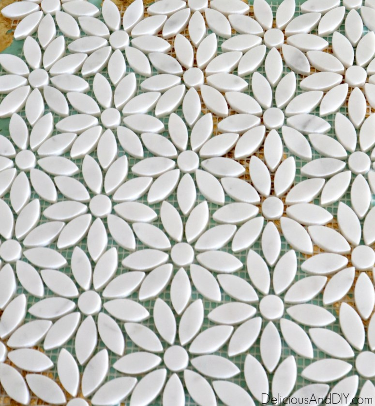diy flower shape tiles