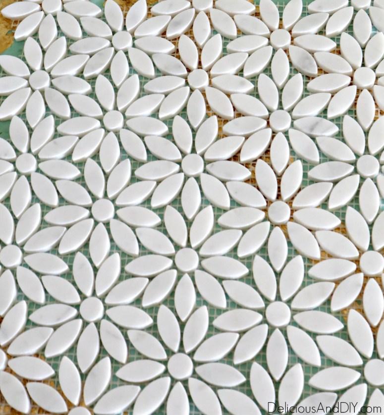 diy flower shape tiles