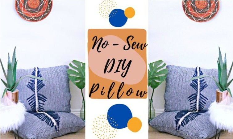 How To DIY No-Sew Throw Pillows